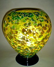 Green and Brown Lamp by Curt Brock (Art Glass Table Lamp)