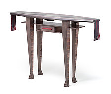 Handsome Hall Table by Anne Bossert (Mixed-Media Console Table)