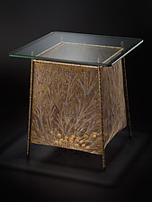 Flora Basket Table 2 by Lanny Bergner (Metal Side Table)