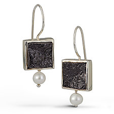 Square Black Tourmaline Earrings by Danielle Miller (Silver & Stone Earrings)