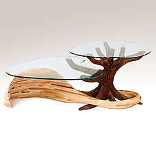 Land And Sea Coffee Table by Aaron Laux (Wood Coffee Table)