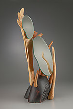 Vanity Mirror #1 by Aaron Laux (Wood Mirror)