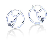 Mooncheese Earrings by Erik Stewart (Silver & Stone Earrings)
