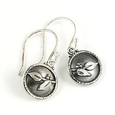 Sprig Drop Earrings by Vickie  Hallmark (Silver Earrings)