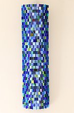 Reflections in Blue by Gerald Davidson (Art Glass Wall Sculpture)