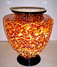 Gold and Brown Table Lamp by Curt Brock (Art Glass Table Lamp)