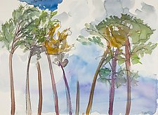 Slash Pines 9 by Shannon Bueker (Watercolor Painting)