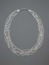 Delicate Ellipses Chain Necklace by Heather Guidero (Silver Necklace)