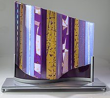 Lavender Wave by Varda Avnisan (Art Glass Sculpture)