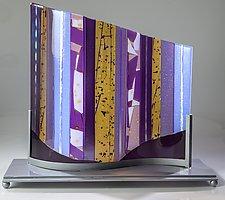 Lavender Wave by Varda Avnisan (Art Glass Sculpture)