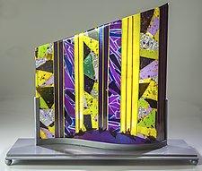 Purple Wave by Varda Avnisan (Art Glass Sculpture)