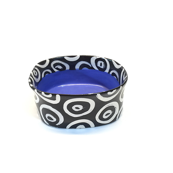 Blue Oval Bowl