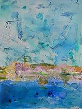 Sailing Along the California Coast by Pamela Acheson Myers (Acrylic Painting)