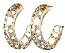 Ocean Rock Hoops by Natalie Frigo (Silver & Brass Earrings)