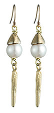 Daggers and Pearls by Natalie Frigo (Pearl & Brass Earrings)