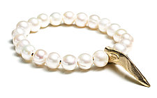 Claw and Pearls by Natalie Frigo (Pearl & Brass Bracelet)