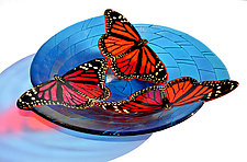 Monarch Butterfly Bowl by Mark Ditzler (Art Glass Bowl)
