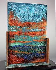 Sunrise, Sunset by Colleen Gyori (Art Glass Sculpture)