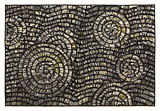 Pewter Wave Mosaic by Tim Harding (Fiber Wall Art)