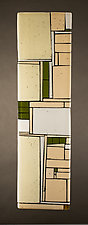 Beige Loft by Vicky Kokolski and Meg Branzetti (Art Glass Wall Sculpture)