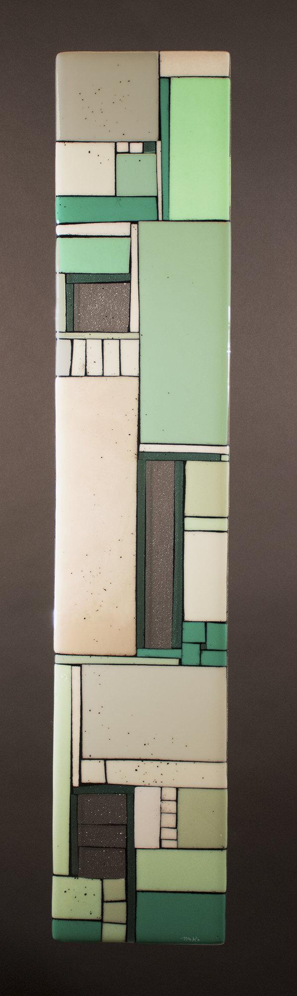 Lofts Green By Vicky Kokolski And Meg Branzetti Art Glass