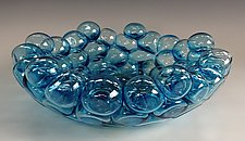 Schiuma Vetro Terrina in Aqua by Jennifer Nauck (Art Glass Bowl)