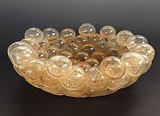 Schiuma Vetro Terrina in Champagne by Jennifer Nauck (Art Glass Bowl)