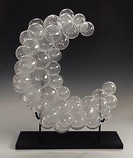 Crescent Moon by Jennifer Nauck (Art Glass Sculpture)