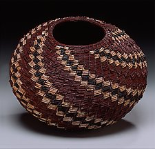 Torrey Pine Needle Basket by Christine Adcock and Michael Adcock (Woven Basket)