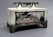 Low Floral Spirit Box by Christine Adcock and Michael Adcock (Ceramic Box)
