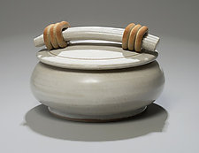 White Satin Casserole by Jan Schachter (Ceramic Casserole)