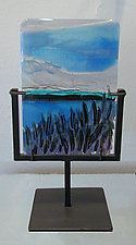 Seaside Moment by Alice Benvie Gebhart (Art Glass Sculpture)
