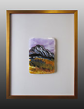 Sedona Canyon by Alice Benvie Gebhart (Art Glass Wall Sculpture)
