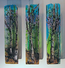 Three Part Harmony by Alice Benvie Gebhart (Art Glass Wall Sculpture)