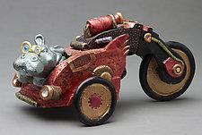 Hippo Car by Byron Williamson (Ceramic Sculpture)