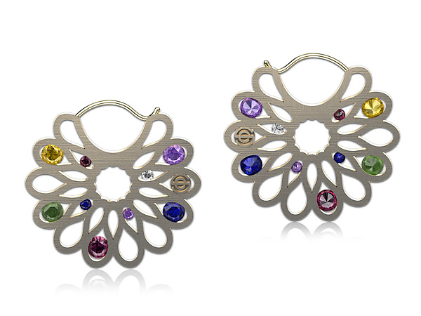 Elizabeth Earrings with Gemstones