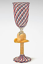 Cowboy Hat Goblet by Michael Egan (Art Glass Goblet)