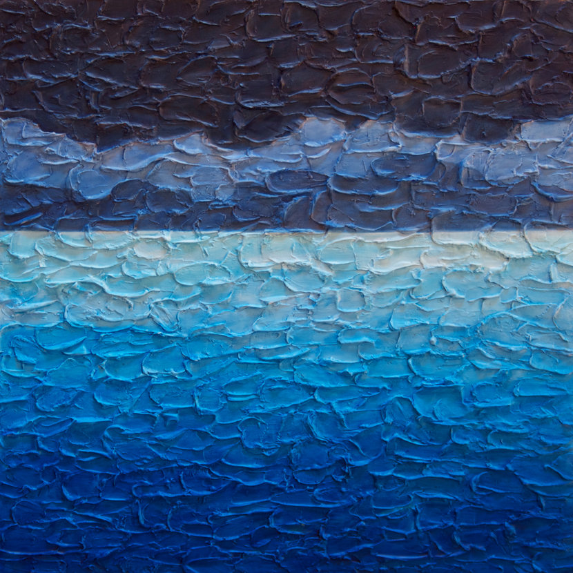 Sea And Sky No. 2 By Steve Bogdanoff (Acrylic Painting