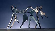 Dancing Family with 4 Children by Boris Kramer (Metal Sculpture)