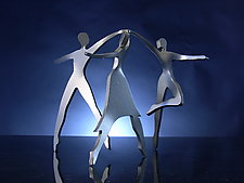 Three Graces by Boris Kramer (Metal Sculpture)