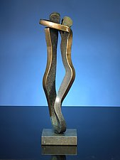 Embrace in Brass by Boris Kramer (Brass Sculpture)