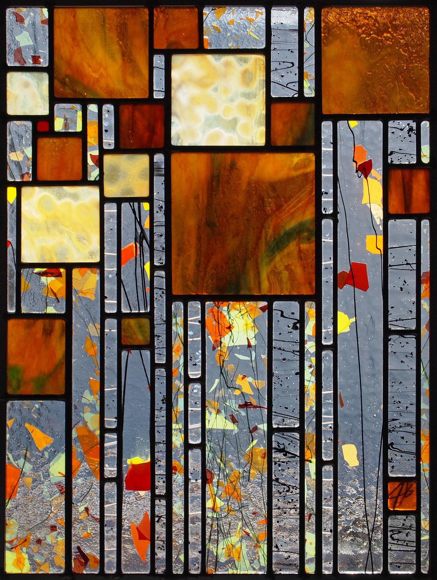 Stillness By Josephine A Geiger Art Glass Wall Art