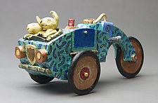 Bunny Mobile by Byron Williamson (Ceramic Sculpture)