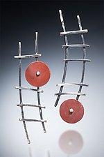 Ladder Earrings by Nina Mann (Silver & Stone Earrings)