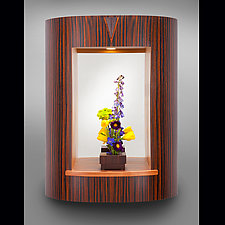Curved Entry Mirror by Robert Krantz (Wood Mirror)