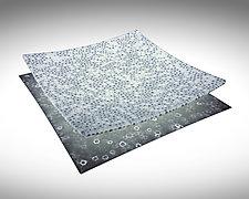 Deco Gray and White Murrini Platter by Joseph Enszo (Art Glass Platter)