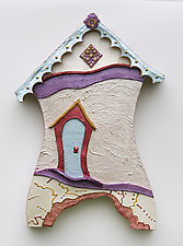 Painted Lady by Byron Williamson (Ceramic Wall Sculpture)