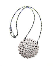 Small Structure Medallion by Joanna Nealey (Enameled Necklace)