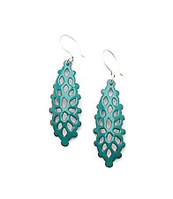 Long Structure Earrings by Joanna Nealey (Enameled Earrings)