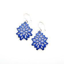 Wide Structure Earrings by Joanna Nealey (Enameled Earrings)